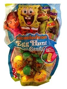 Nickelodeon Easter Eggs with Candy, Dora, Spongebob and the Teenage Mutant Ninja Turtles, 22 Eggs