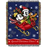 Disney, Mickey Mouse, Sleigh Ride 48-Inch-by-60-Inch Acrylic Tapestry Throw by The Northwest Company