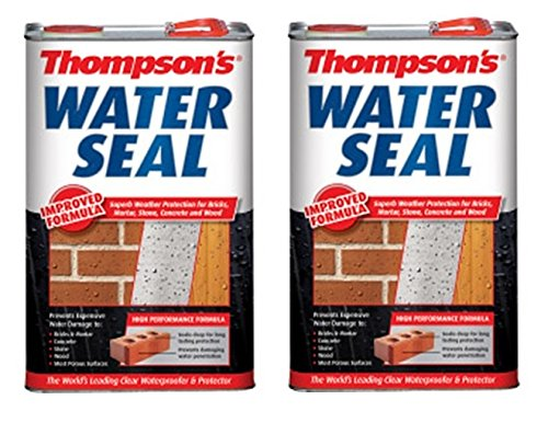 2-x-thompsons-water-sealer-waterproofer-protector-brick-concrete-wood-5-litre