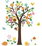 Charming Woodland Giant Peel & Stick Wall Art Sticker Decals