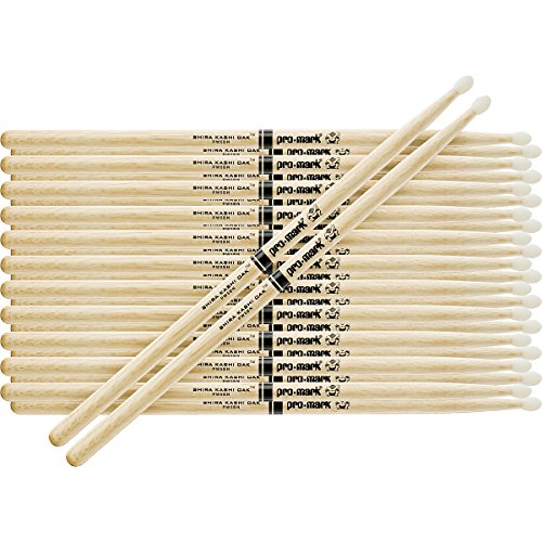 Promark 12-Pair Japanese White Oak Drumsticks Wood 2B