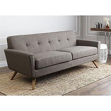 Abbyson Living Bayview Fabric Sofa in Khaki