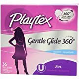 Playtex Gentle Glide Tampons, Unscented Ultra Absorbency, 36 Count