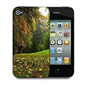 Snoogg Green Garden Dense Forest Designer Protective Phone Back Case Cover For Apple Iphone 4