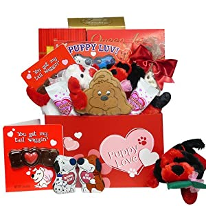 Art of Appreciation Gift Baskets Puppy Love Valentine's Day Care Package Gift Box of Chocolate and Candy