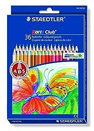STAEDTLER Noris Club coloured pencil smooth soft painting - 12, 24, 36 COLOR SET (36 Color Set)