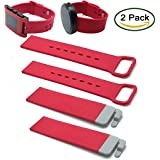Moto 360 & Pebble Time Wristband By XXSCY® 2PCS Silicone Replacement Wristbands With 2PCS Connect Pins For Moto 360 Smartwatch / Pebble Time Smartwatch (2pcs Rose)