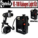 Opteka VL-100 100-Watt Professional Halogen Camcorder Video Light Kit with 12v Rechargeable Battery Pack for Canon GL2, GL1, XL2, H1S, H1A, XF305, XF300, G1S and A1S - Extra 12v Rechargeable Battery Pack Included!