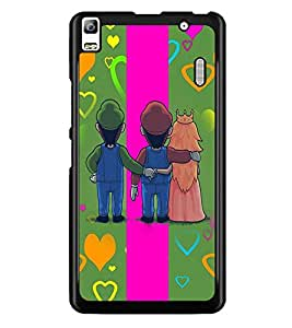 PrintDhaba Betrayed Love D-2476 Back Case Cover for LENOVO A7000 TURBO (Multi-Coloured)