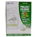 Biodegradable Project Folders, Reduced Glare, Polypropylene, Letter Size, 25/Box