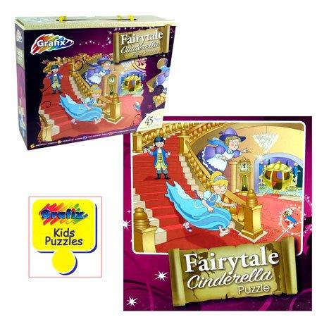 (Grafix) Fairytale Cinderella Floor Puzzle (45 Piece) (Age 3+) - 1