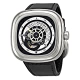 SEVENFRIDAY Men's Quartz Stainless Steel Casual Watch, Color:Black (Model: P1/1) (Color: black)