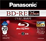 Panasonic ブルーレイディスク 録画用2倍速 25GB(単層 書換型) 20枚パック LM-BE25H20N