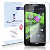 iLLumiShield - Motorola DROID RAZR HD (XT926) (HD) Blue Light UV Filter Screen Protector Premium High Definition Clear Film / Reduces Eye Fatigue and Eye Strain - Anti- Fingerprint / Anti-Bubble / Anti-Bacterial Shield - Comes With Free LifeTime Replacement Warranty - [2-Pack] Retail Packaging