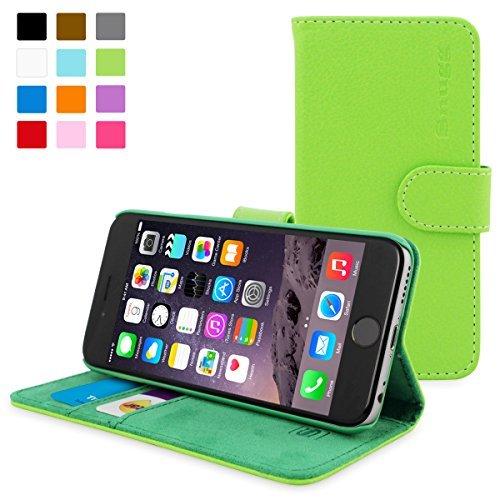 英国Snugg製 iPhone6用 PUレザー手帳型ケース 生涯補償付き(グリーン)
