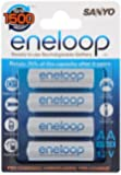 Sanyo Eneloop AA 4 Pack Batteries (HR-3UTGA) - The new, improved eneloop - re...