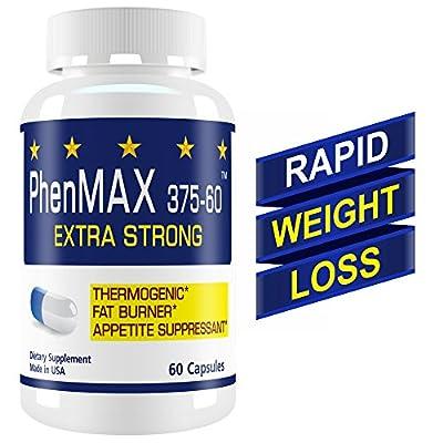PhenMax375 Diet Pill. Ultra-Strong Fat Burner, Energy Enhancer, Appetite Suppressor, Mood Enhancer.