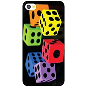 Apple iPhone 4S Dice And Roll Matte Finish Phone Cover