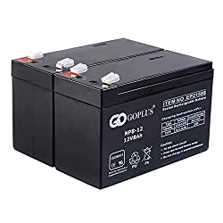 Safstar Rechargeable Lead Acid Battery for APC UPS, ADT, alarm wheelchair 12V 8Ah (2 Pack)