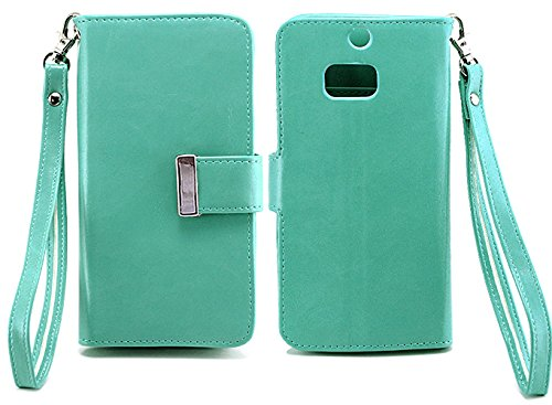 Mylife (Tm) Cool Mint Green {Smooth Color Design} Faux Leather (Card, Cash And Id Holder + Magnetic Closing) Slim Wallet For The All-New Htc One M8 Android Smartphone - Aka, 2Nd Gen Htc One (External Textured Synthetic Leather With Magnetic Clip + Interna