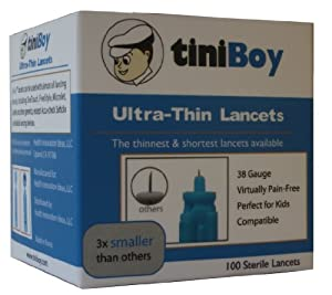 Tiniboy 36 Gauge Lancets - Box of 100