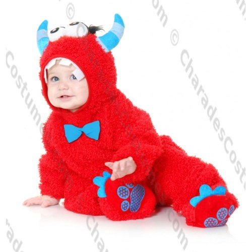 Little Monster Madness Baby Costume (RED, 2T-4T)