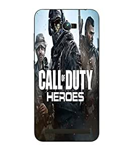 Make My Print Call Of Duty Printed Blue Hard Back Cover For Asus Zephone Max