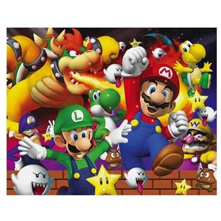 Cheap Hobbico Visual Echo 3D Effect Nintendo Mario Bowser 100pc Lenticular Puzzle (B000YB8FRA)