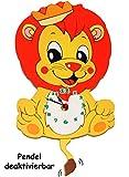 """Wanduhr - Uhr aus Holz - """" süßer Löwe mit"""