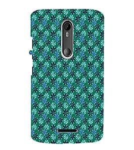 EPICCASE velvet greeny flowers Mobile Back Case Cover For Moto X 3rd Gen (Designer Case)
