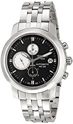 Tissot Men's PRC 200 Automatic Chronograph Black-White Dial Watch #T014.427.11.051.01