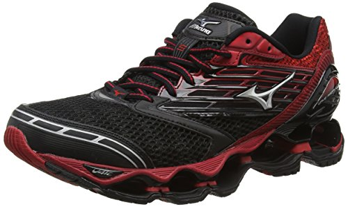 MizunoWave Prophecy 5 - Scarpe Running uomo, Nero (Black (Black/Silver/Chinese Red)), 44 1/2
