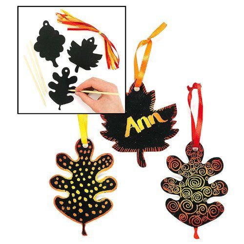 Magic Color Scratch Fall Leaves (2 dz)