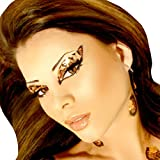 Xotic Eyes Cheetah Glitter Professional Eye Make up Costume Accessory
