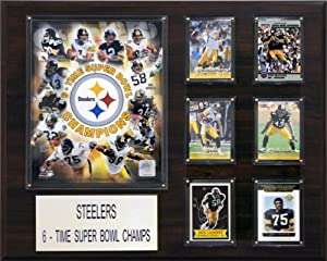 NFL 16 x 20 in. Pittsburgh Steelers 6 Time Champions Plaque by C&I Collectables
