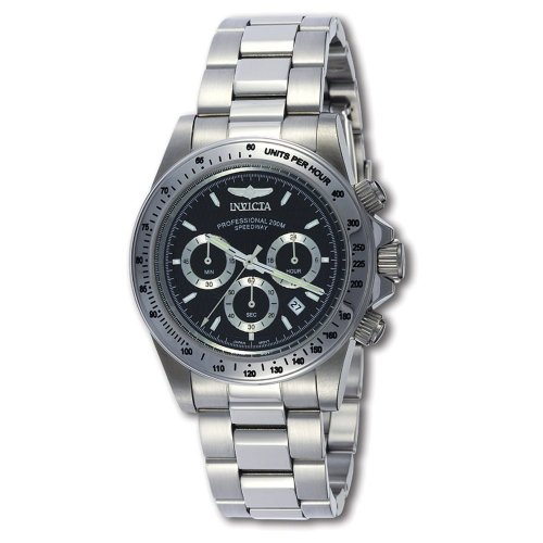 Invicta Men's Speedway Chronograph 9223 Stainless-Steel Chronograph Watch with Black Dial