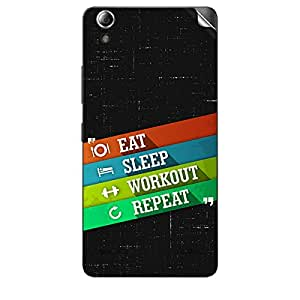 Skin4Gadgets Eat Sleep Workout Repeat Phone Skin STICKER for LENOVO A6000 PLUS