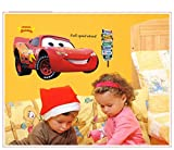 Make it Magical Crafts & Gifts® Disney Pixar Cars (Lightning McQueen) Wall Stickers Decal (110cm x 50cm)