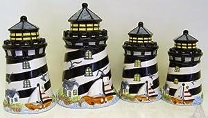 Lighthouse Kitchen Canister Set
