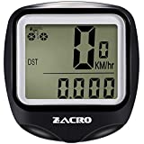 Zacro Bike Computer, BS251 Original Wireless Bicycle Speedometer with Backlight, Multi Function Bike Odometer Cycling with Compass Key Ring Zacro