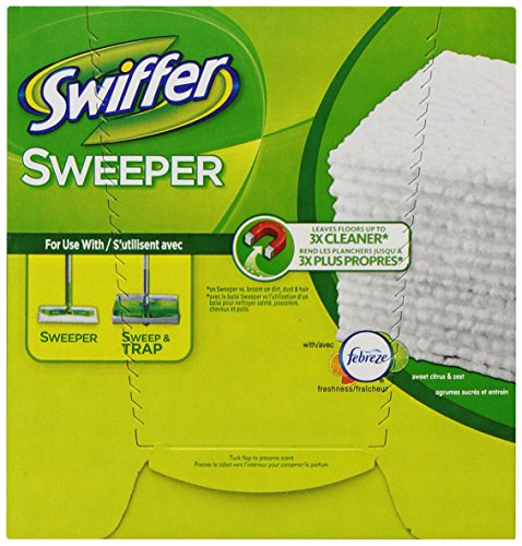 Swiffer Sweeper Dry Sweeping Cloths Mop And Broom Floor Cleaner Refills Sweet Citrus And Zest Scent 37 Count