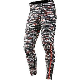 Nike Dri-Fit Wilder Tech Tight - Men\'s Hyper Orange/Reflective Silver, M