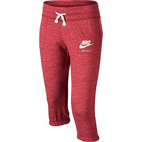 Girls Nike Sportswear Gym Vintage Knit Capri Sweatpants (Vivid Pink, M)