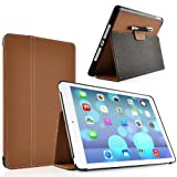HORIZON Brown Ultra Slim Full Body Smart Case for The New iPad Air (iPad 5, 5th Generation released November 1st 2013) with Full Sleep Wake compatibility