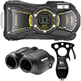 Ricoh WG-20 14MP Waterproofp, Shockproof, Coldproof, Crushproof And Dustproof 5x Optical Zoom Digital Camera Adventure Kit (BLACK)