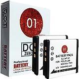 2x DOT-01 Brand 1400 mAh Replacement Pentax D-LI68 Batteries for Pentax Q, Q10, Optio A36, Optio S10, Optio S12, QS1 Digital Camera and Pentax DLI68
