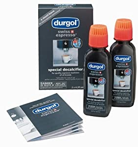 Durgol Swiss Espresso Decalcifier for All Brands High-End Espresso Machines, 4.2 Fluid Ounce Bottle, 5-Pack by Durgol