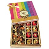Chocholik Belgium Chocolates - Awesome Combination Of Almonds, Raisin, Cashew, Truffles & Chocolates Rocks Gift...