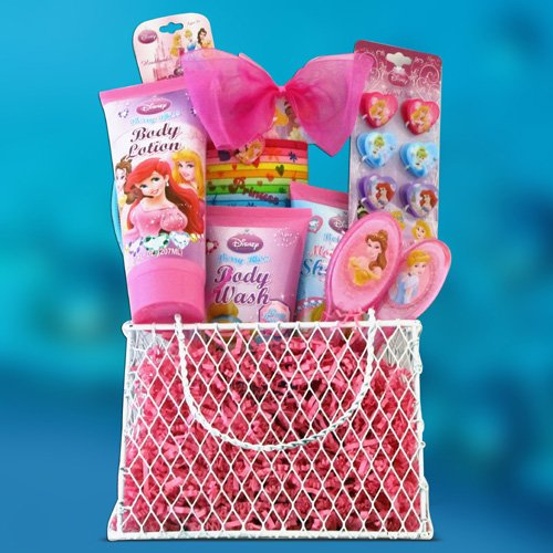Perfect Birthday, Gift Baskets for Girls Disney Princess Toiletries Kids Gift Baskets