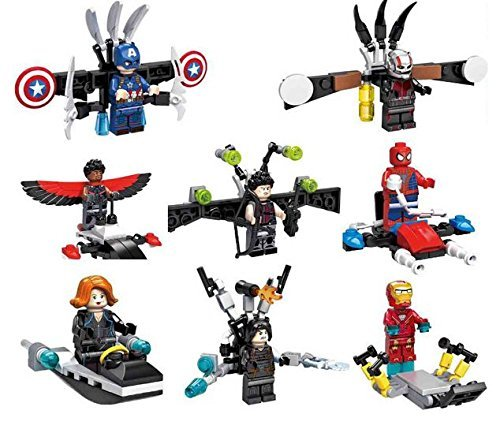LipstickIndyÃ'® 2016 Brand New Iron man v Captain America Minifigure Superhero Action Figure with weapons by LipstickIndyÃ'®